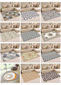 Polyester Digital Printed Irregular Shaped Area Rug - Buy ...
