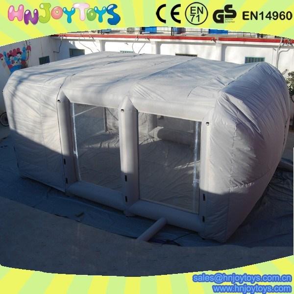 vente chaude portable gonflable de pulverisation de peinture lit doublure stand pour vente