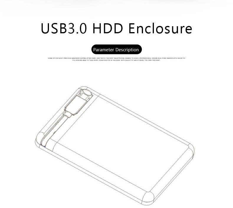 Blueendless Type C 3.1 Storage Case Hard Disk Enclosure