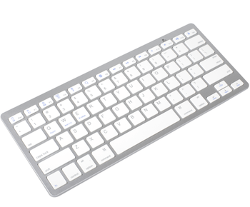 Putih 78 Tombol Bluetooth 3.0 Keyboard Komputer Nirkabel