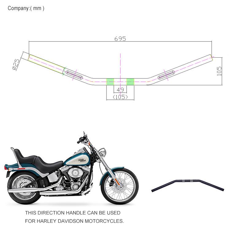 Oem Motorcycle Aluminum Chrome Handlebar Drag Bar For