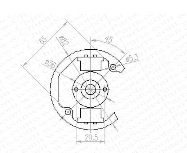 50cc Engine 9hp Engine Flywheel Kit Engine Spare Parts