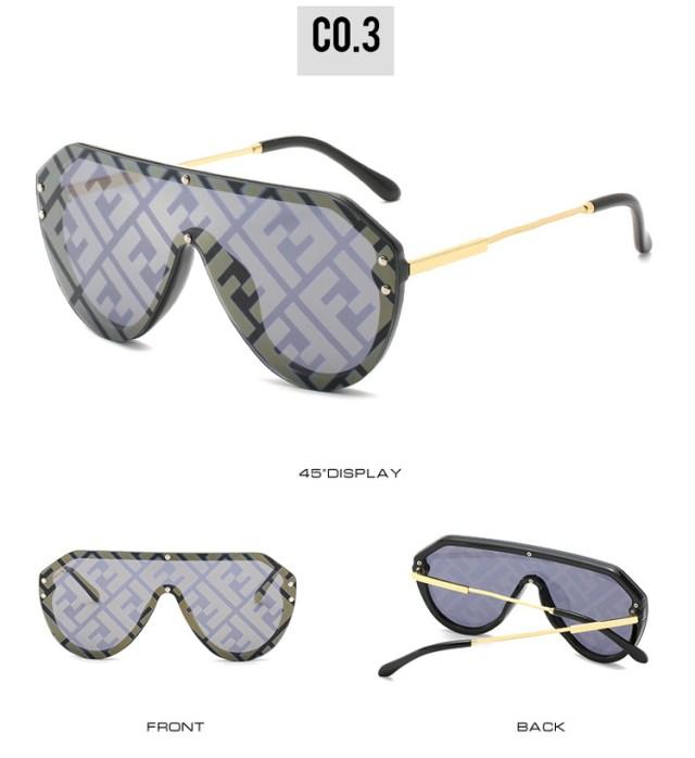 New Letter Gafas Women Custom Fashion Sun Glasses Sunglasses 2020