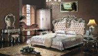 European Style Bedroom Furniture Set,Upholstered Headboard ...
