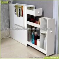 Hot Sale White Wooden Slim Storage Cabinet For Bathroom ...