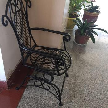 wrought iron dining chairs fisher price rocker chair