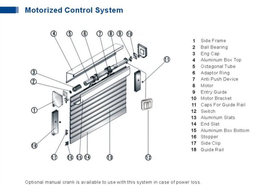 Aluminium Roller Shutter Components Rail Guide Wheels