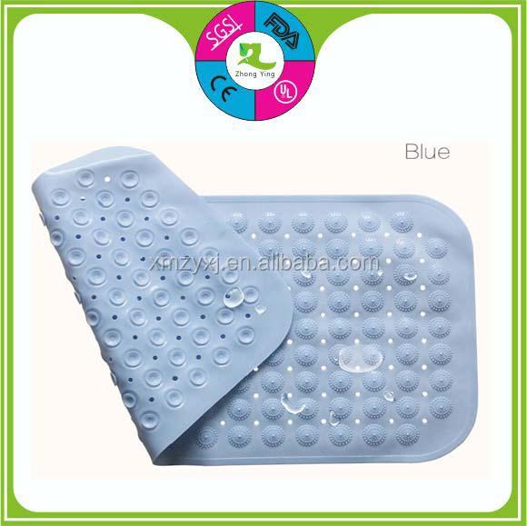 Customized Colorful Anti Slip Pvc Silicone Rubber Bath Mat Buy Anti Slip Pvc Silicone Rubber