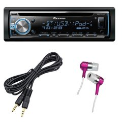 pioneer deh x6800bt car stereo receiver cd player with bluetooth 3 5 mm auxiliary cable [ 1000 x 1000 Pixel ]