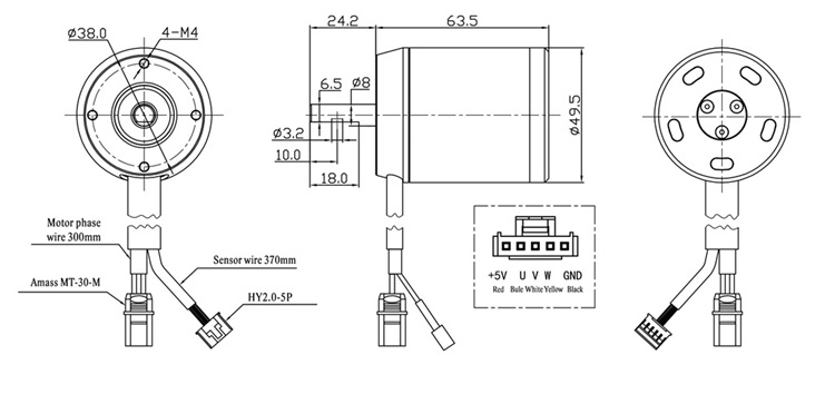 Flipsky H5065 Diy Electric Skateboard 12s 140kv 200kv