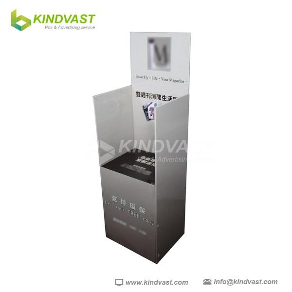 Floor Advertisement Cardboard Magazine Display
