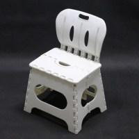 Folding Stool With Back,Portable Plastic Step Stools Kids ...