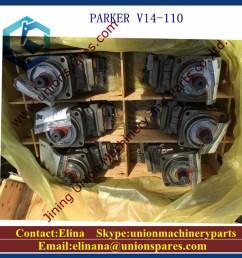 parker v14 160 hydraulic pump 3782305 hydraulic motor [ 1000 x 1000 Pixel ]
