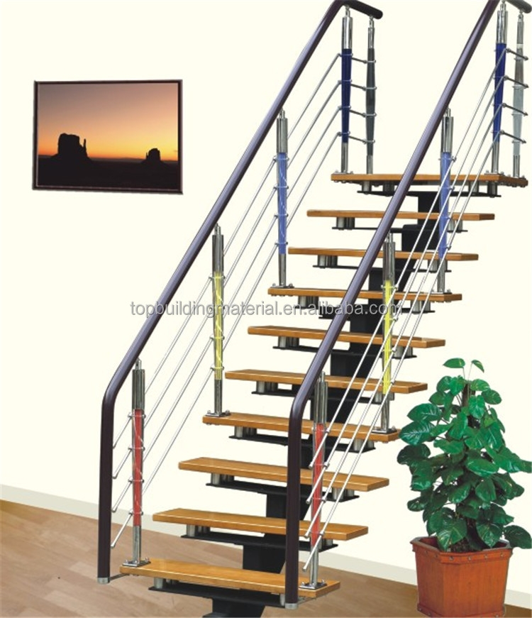 Modern Straight Single Stringer Steel Staircase Design Buy | Steel Stairs For Sale | Spiral | Indoor | Interior | Cantilever | Straight