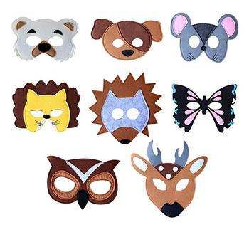 felt animal masks set