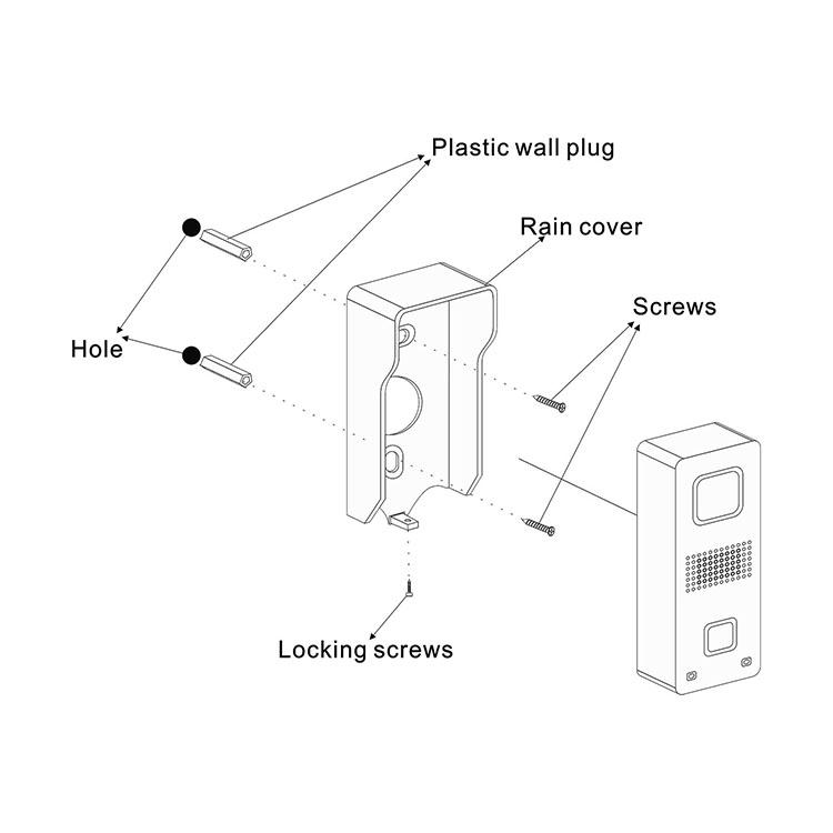 7 Inch 4 Wire Door Monitoring Intercom Opening System