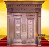 Security Copper Double Door Design Main Entrance Door ...