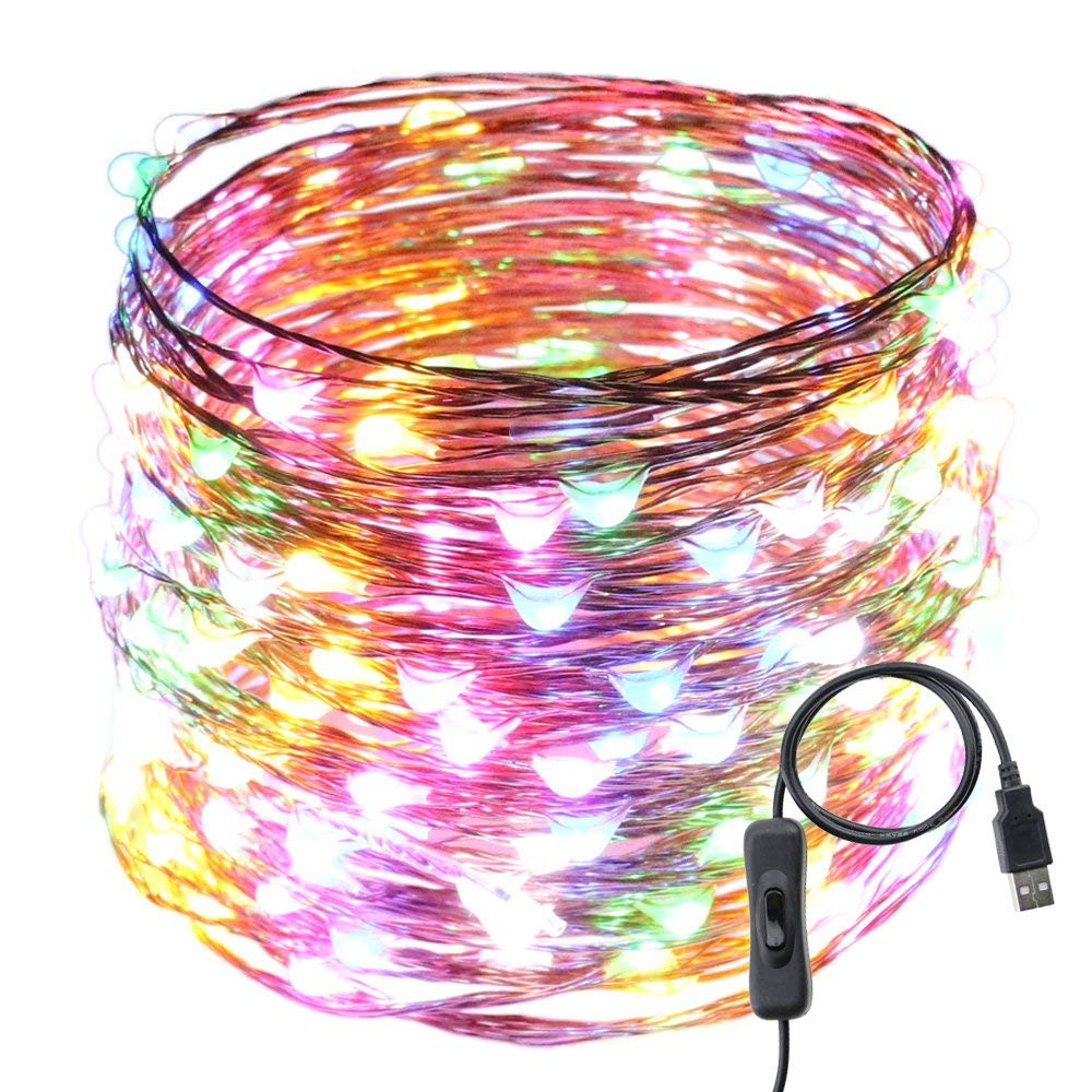 hight resolution of get quotations usb led string lights er chen tm 200 leds 66ft waterproof copper wire