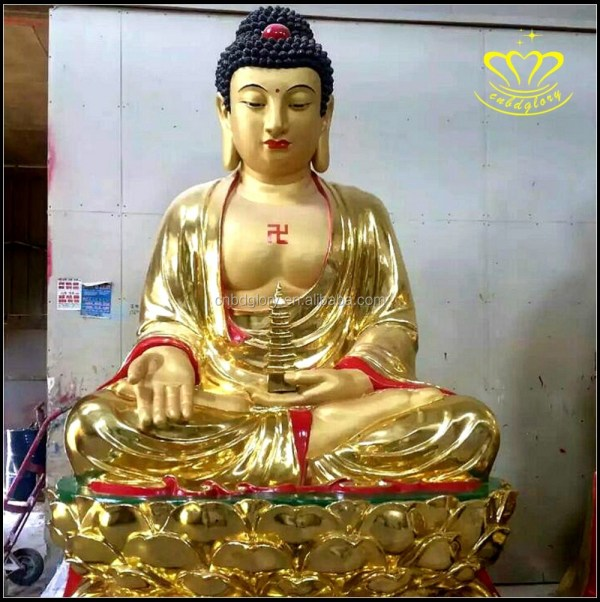 White Fiberglass Resin Large Thai Buddha Statues