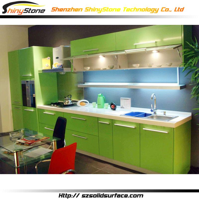 Desain Dapur Hijau Sederhana