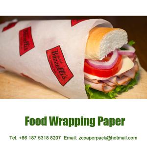 standard size burger wrapper