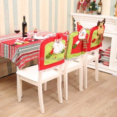Chair Cover Christmas Decorations Folding Arm India Xmas Decoration Festival Santa Claus Red Hat For Kitchen Dinner Seat Back Decor