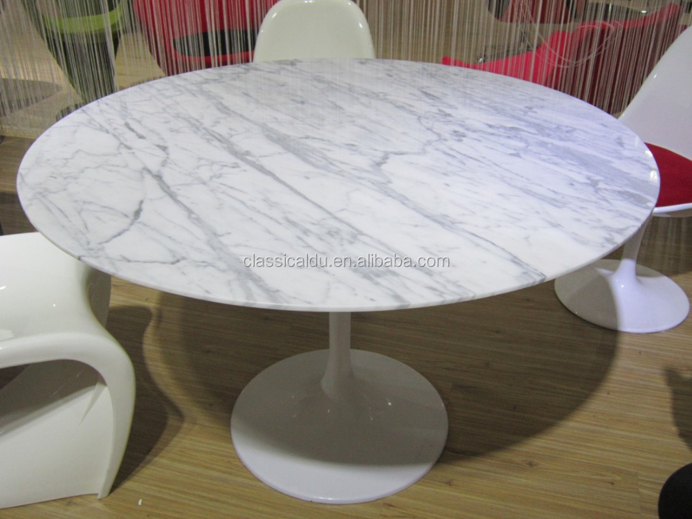 Round White Marble Top Dining TableStone Top Dining