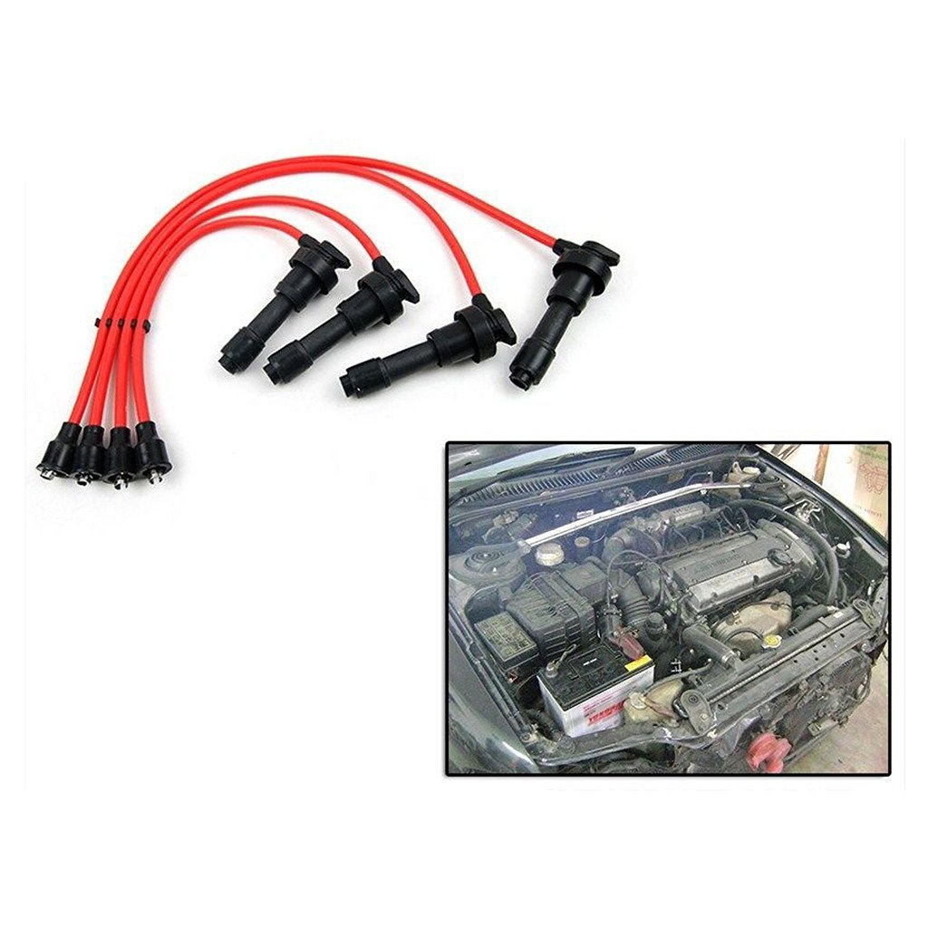 hight resolution of ignition spark plug wire cable set mitsubishi lancer cc 4g92 4g93 dohc 1 8l 1 6