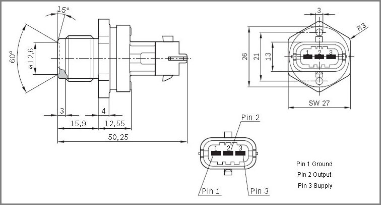 Fuel Pressure Sensor 0281006053 0281002921 51274210178