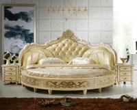 European Design Antique Bedroom Round Bed King Size Round