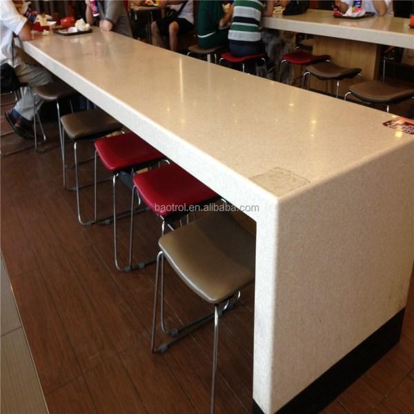 Long Table Design Kfc Fast Food Bar Top High