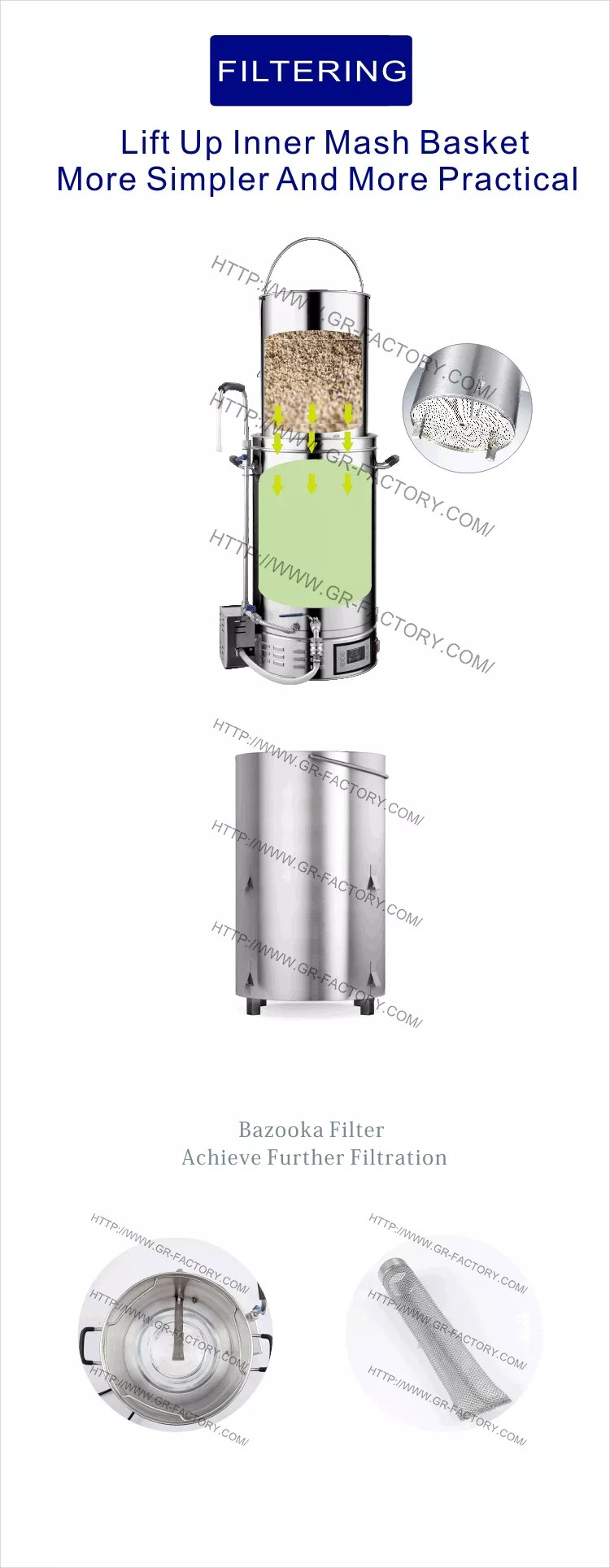 medium resolution of 50l all in one homebrew beer brewer equipment electric mash tun micro brewery