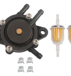 get quotations hifrom replace fuel pump fuel filter with clamp for for john deere 108 l105 102 115 [ 1500 x 1144 Pixel ]