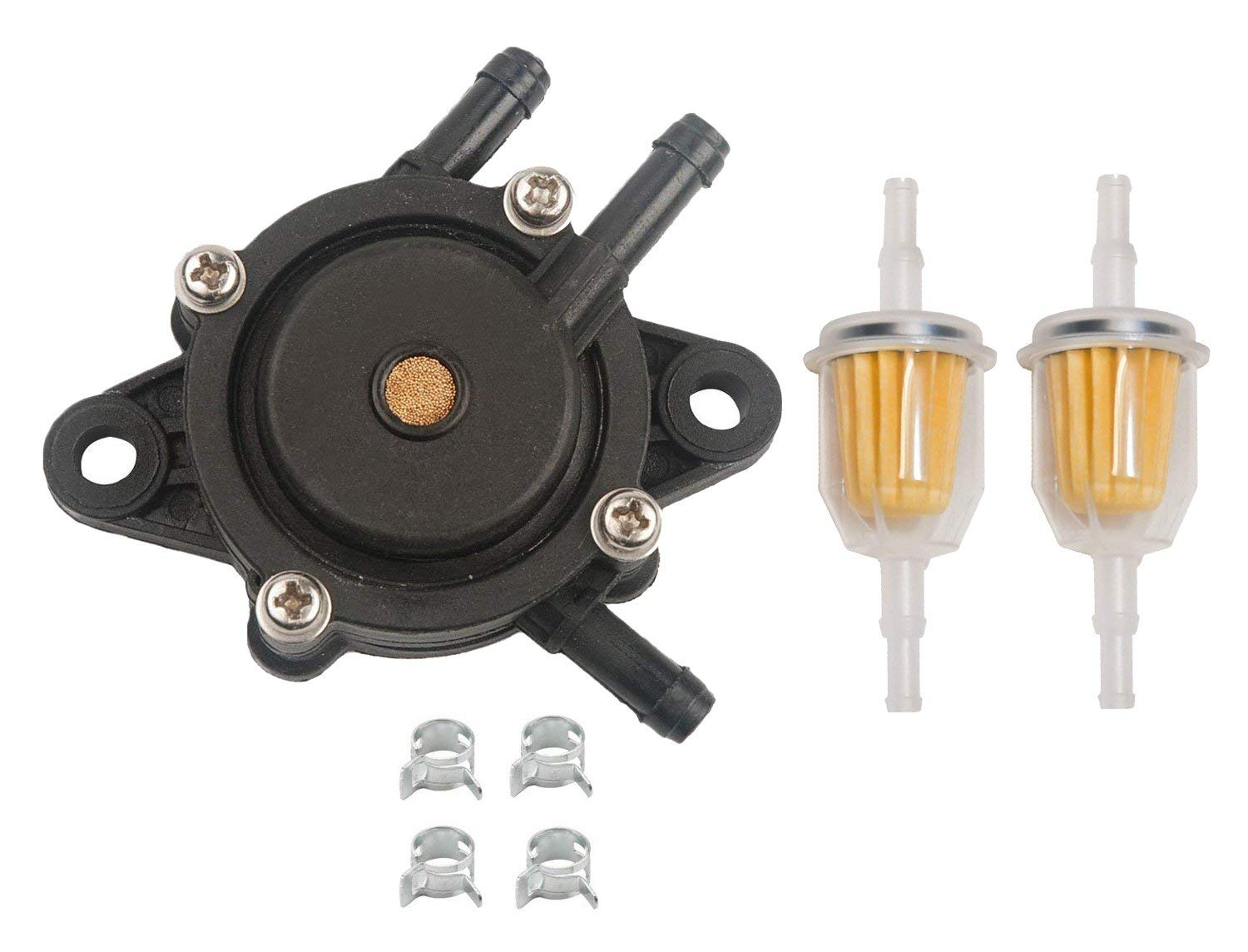 hight resolution of get quotations hifrom replace fuel pump fuel filter with clamp for for john deere 108 l105 102 115