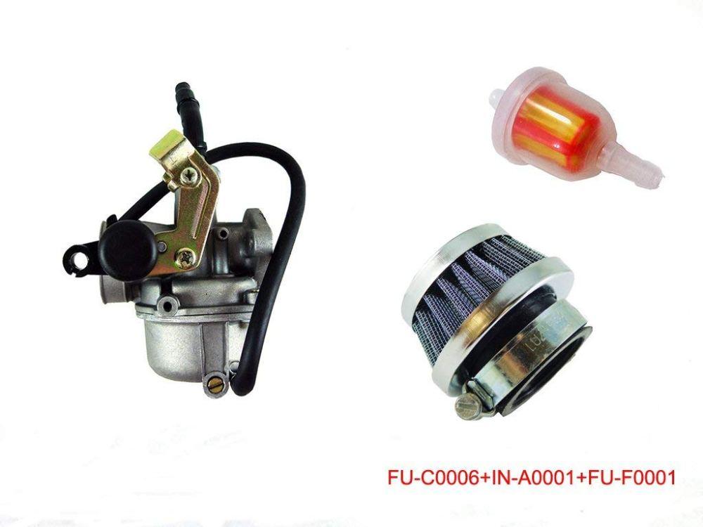 medium resolution of pz19 cable choke carburetor with air filter for 50cc 90cc 110cc chinese atv go kart roketa