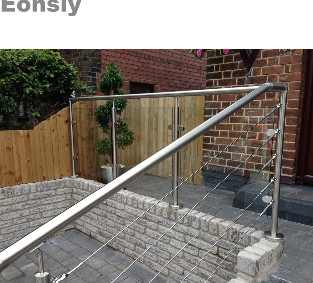 Balustrades Handrails Stainless Steel Handrails For Outdoor | Exterior Handrails For Steps | Cast Iron | 3 Step | Brushed Nickel | Front Step Railing Pipe | Garden