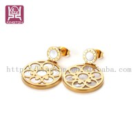Indian Gold Hanging Earrings Designs For Girls