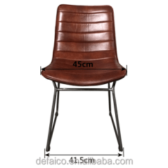 Leather Chair Pads Dog Camping Modern Seat Metal Dining Room Chairs For Dinning