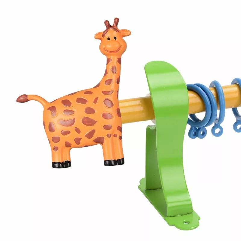 animal cute resin decorative kids curtain rods curtain poles factory made curtain finial iron with brackets parts and kids buy rod brackets