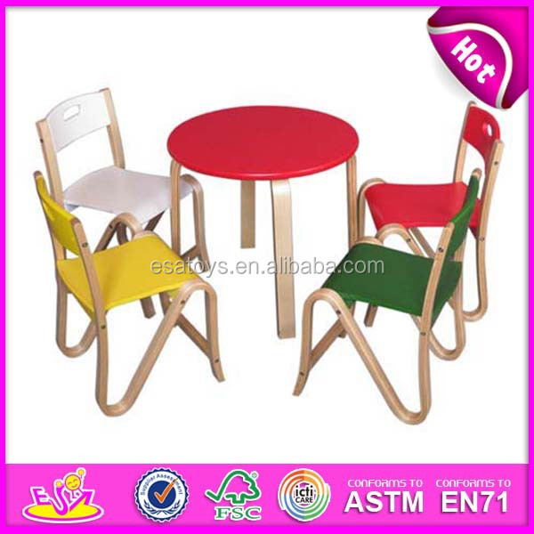 kids wooden table and chair set red bungee new popular modern children dining toys