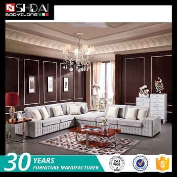 corner living room table small apartment furniture ideas hot selling popular fabric l shaped drawing sofa set