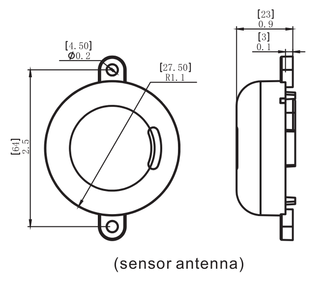 Bi-level Detached Microwave Motion Sensor/out Door
