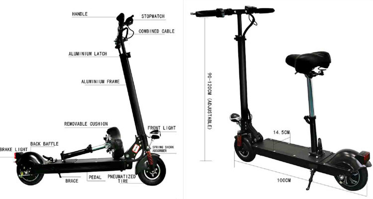 Ce/rohs Foldable Scooter Electric Mobility Scooter With