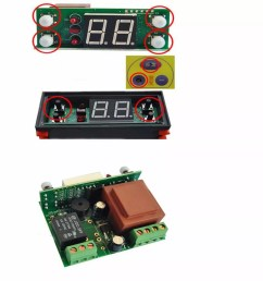 two relay output led digital temperature controller thermostat incubator stc 1000 110v 220v 10a with [ 1000 x 1000 Pixel ]