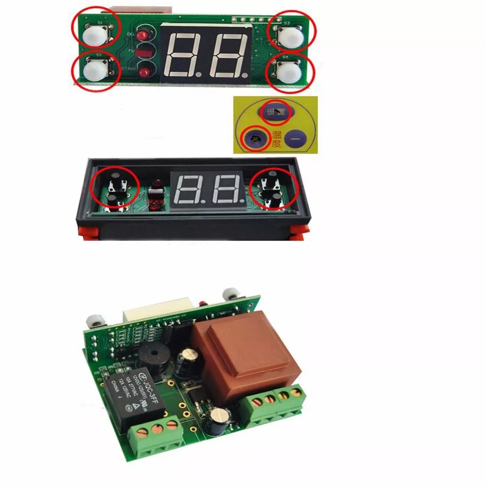hight resolution of two relay output led digital temperature controller thermostat incubator stc 1000 110v 220v 10a with
