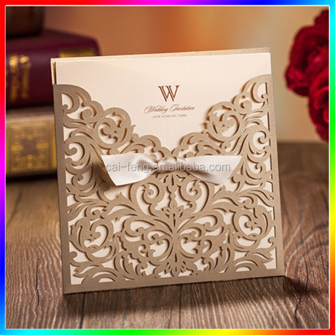 Laser Cut Wedding Invitation Card Supplieranufacturers At Alibaba Com