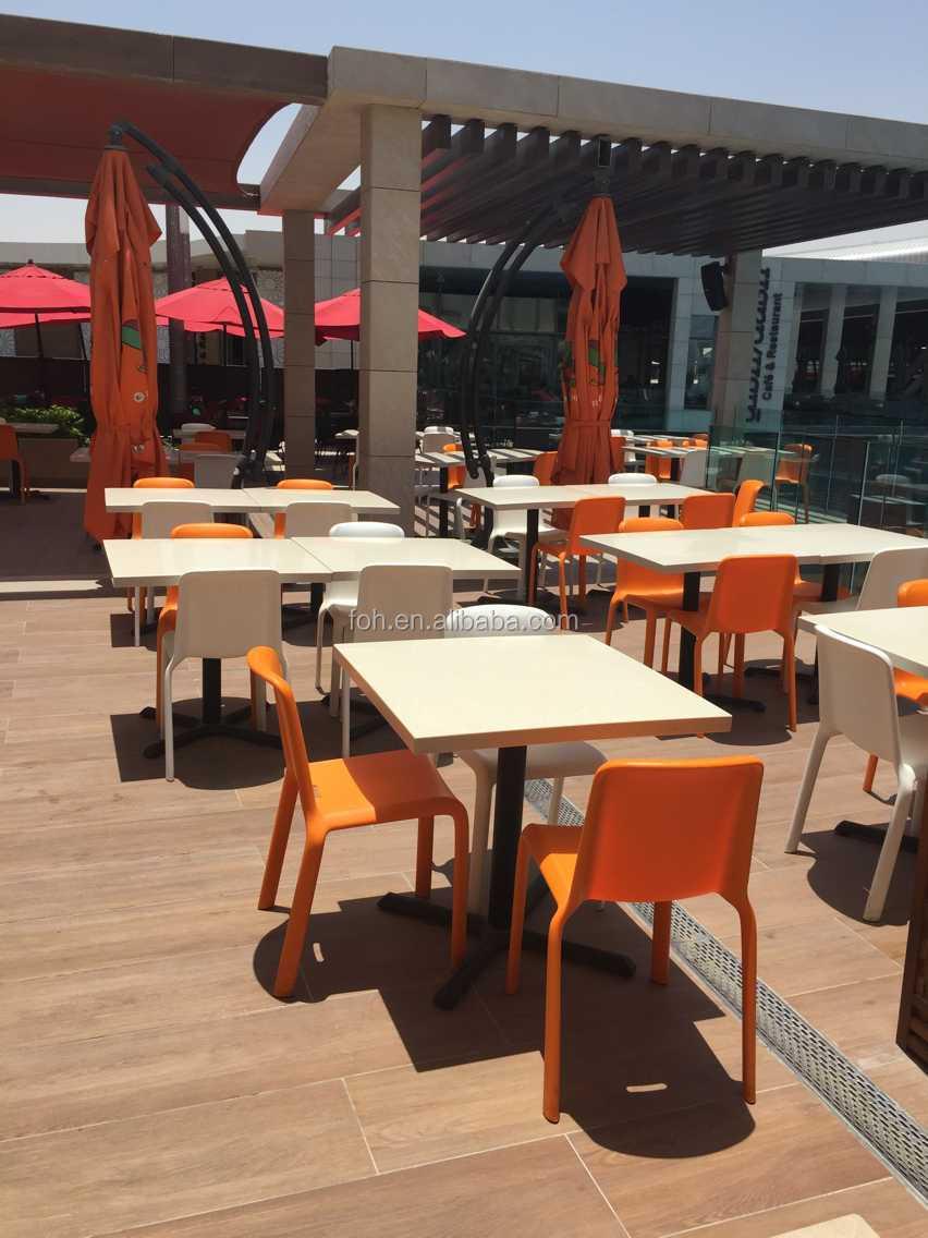 table de surface solide et chaises en plastique d exterieur pour restaurant et salle a manger dans le marche de dubai nouvelle collection buy table