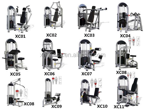 Pin Loaded Gym Equipment Names Standing Calf Raise Machine