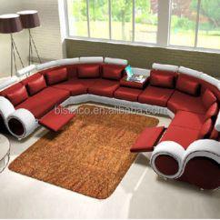 U Sofa Herman Miller Goetz New Design Modern Creative Shape Genuine Leather Sectional Italian Set For