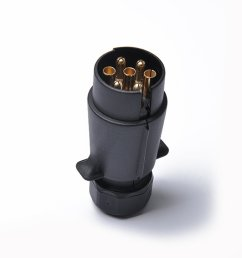 get quotations professional 12v 7 pin trailer plug round pin trailer wiring connector 7 poles [ 1200 x 1200 Pixel ]
